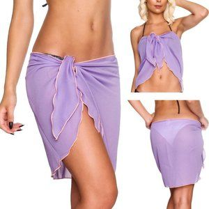 Other - ❤️Sarong Scarf Swimsuit Cover-Up OS Purple Chiffon